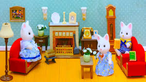 Kids Living Room Set Sylvanian Families Calico Critters Living Room Set Unboxing Review