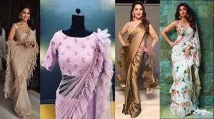 Designer Saree 2019 Latest Party Wear Designer Ruffle Pallu Saree Frill Saree