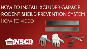 how to install xcluder garage door rodent shield pest prevention system