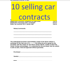 Motor Vehicle Purchase Contract Form Solidclique40 Unique Auto Purchase Agreement Form