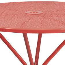 4in round metal patio table
