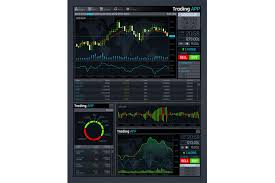 Forex Chart App Forex Market App Vector Interface With Business Financial