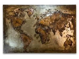 click to expand on map wall art uk with abstract metal world map rusty world wall hanging
