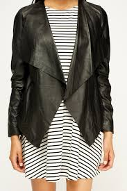 south black waterfall leather jacket 1