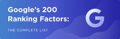 Googles 200 Ranking Factors The Complete List 2019