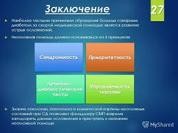 Презентация на тему Курсовая работа по специализации Фельдшер  28 Заключение