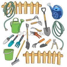 garden cartoon hand drawn elements