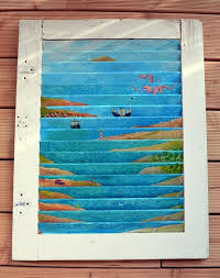 recycling old wooden doors window frame art painting upcycled diy craft