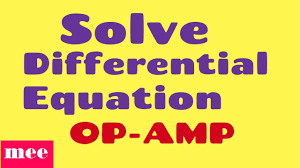 solve diffeial equation with op amp
