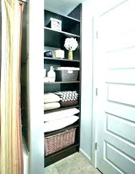 bathroom closet shelf height shelving units organizers utility ideas plain bathrooms remarkable