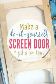 Homemade Screen Door Designs How To Build A Diy Screen Door From Scrap Wood Easy Diy