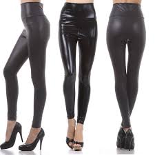 high waist matte shiny leather fashion leggings pull on pants tights s l
