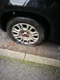 flat tire. Plain Flat To Flat Tire T