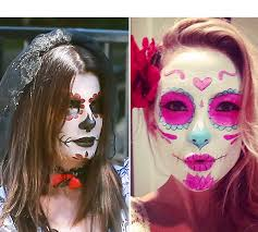 day of the dead makeup get the look makeup tutorial hollywood life