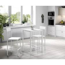 MANIRA Ensemble table bar de 2 personnes + 2 chaises - Style ...