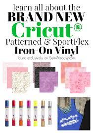 Patterned Iron On Vinyl Interesting NEW Cricut Patterned SportsFlex IronOn Vinyl Sew Woodsy