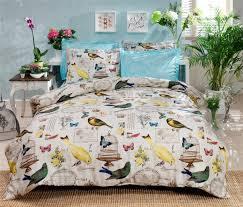 luxurious 4 pcs colorfull scenic bird print pyrenees queen sz duvet cover set