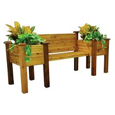 bench planter inch x inch x inch planter bench with food safe finish the home depot bench planter