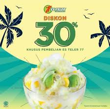 Es teler 77 menyajikan kesegaran makanan dan minuman khas indonesia sejak 1982, dan menjadi setelah hampir tiga dasawarsa, es teler 77 terus berkembang dengan 180 gerai yang menyajikan produk makanan dan minuman dengan resep orisinil yang bermutu dan berkualitas kepada pelanggan. Discount 30 Es Teler 77 June 2020 Discovery Shopping Mall