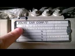 Volvo S60 V70 Model Year And Color Code Plates 2001 2009