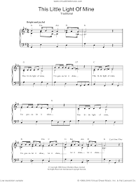 This Little Light Of Mine Sheet Music Free Download This Little Light Of Mine Sheet Music For Piano Solo Pdf
