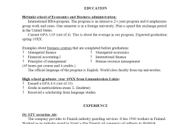 High School Resumes Resume Summary Examples For Highschool Students Unique High School 99
