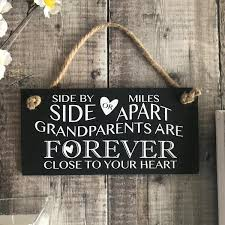 Grandparent Quotes Awesome Grandparent Quote Sign Side By Side Or Miles Apart By Lilybels