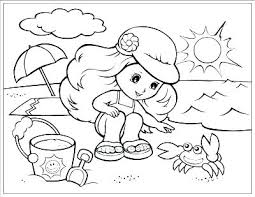 Coloring Pages For Kids Summer Beach Coloring Pages Summer Beach