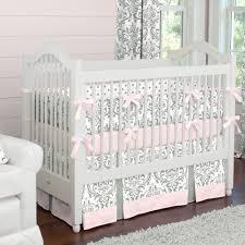 Image of: White Girl Crib Bedding Sets