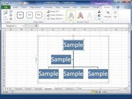 Excel 2010 Resize A Smartart Graphic Or Organization Chart