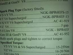 Ngk Spark Plug Gap Just Commodores