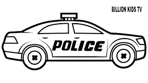 Car Coloring Pages Free Download Best Car Coloring Pages On Police