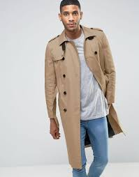 river island long trench coat in beige men jackets river island coats utterly stylish