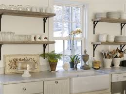Open Shelving Kitchen Ideas  Lamps PlusCountry Style Shelves