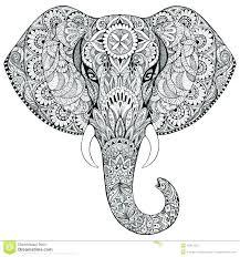 Coloring Pages Elephants Pleasure Elephant Mandala Coloring Pages