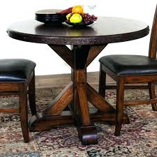 rustic round dining set small rustic kitchen table solid oak round dining table with leaf kitchen