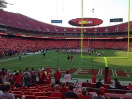 Arrowhead Stadium Section 109 Home Of Kansas City Chiefs