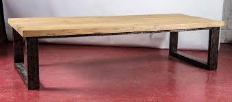 Industrial Style Teak Wood Coffee Table 2