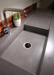 concrete countertop ideas easy clean up but the sink seems a bit shallow depth for me