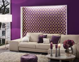 Small Picture purple wall paint for a living room with skin sectional sofa