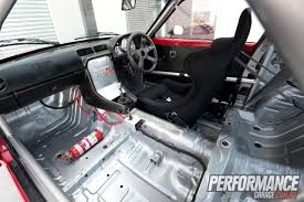 mazda rx7 interior rear. once the inside of cabin had been painted silver only standard interior pieces required by ipra rules were reinstalled mazda rx7 rear