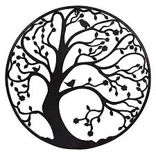 >large 58cm black metal tree circle wall art sculpture for garden or  large 58cm black metal tree circle wall art sculpture for garden or home