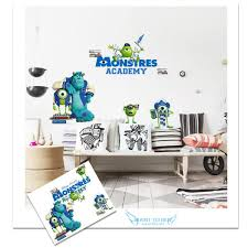 monster wall decals removable stickers diy home decor art kids