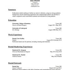 Dentist Resume Sample Resume Templates Dentist Sample Fresh Doctor Template Physician Of 19