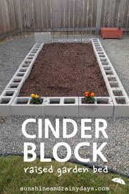 Small Picture How to Build a Cinder Block Raised Garden Bed Sunshine and Rainy