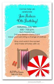 Beach Invitation Chaise On The Beach Party Invitations