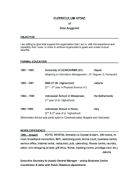 Examples Of Resumes Example Good Resume With No Job Experience