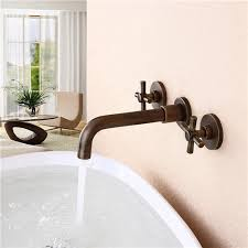wall mounted face basin faucet double