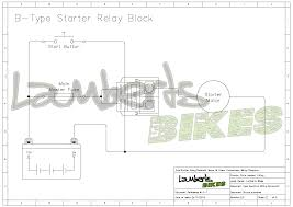 starter relay lamberts bikes Wiring Diagram Starter Motor 4 wire b type starter diagram wiring diagram for motor starter