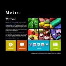 Metro Template Free Template 363 Metro